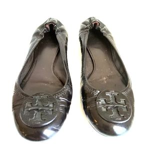 Tory Burch Patent Leather Flats Size 9.5